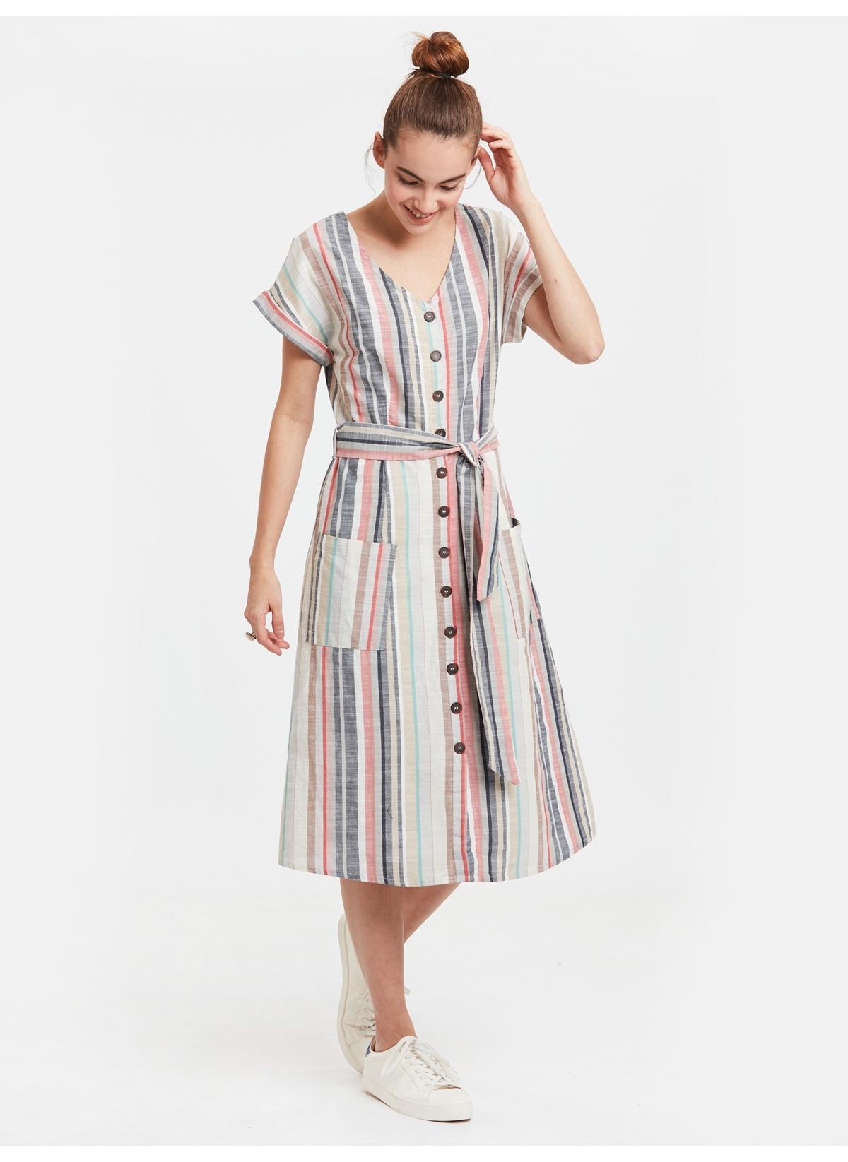 6bced8f6f926c LC Waikiki Çizgili Poplin Gömlek Elbise - Ürünler 2019